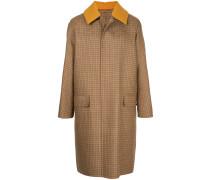 single-breasted tweed coat