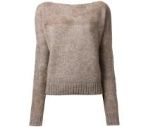 - Pullover mit U-Boot-Ausschnitt - women