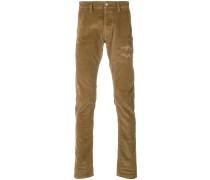 Kordhose in Distressed-Optik