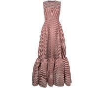 polka dot flared gown