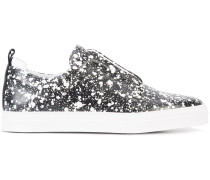 Slip-On-Sneakers mit Farbklecks-Print