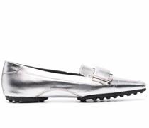 Loafer im Metallic-Look