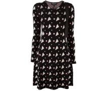 Gestricktes Kleid mit geometrischem Muster