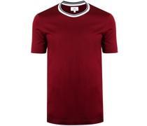 T-Shirt mit gestreiftem Kragen