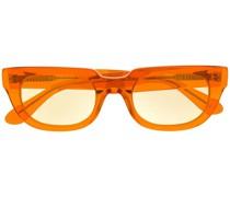 Eckige Brille mit farbigen Gläsern