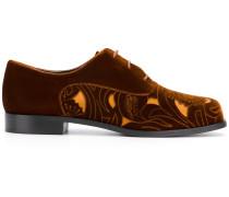 cut-out panel lace-up shoes
