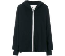zipped wide-sleeve hoodie
