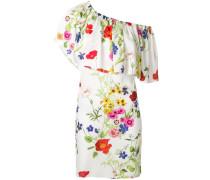 floral one shoulder ruffle dress