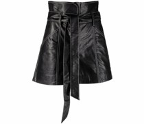 leather-look wrap skirt