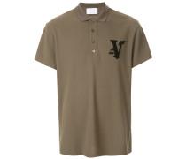 Poloshirt mit V-Stickerei