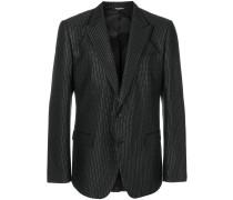 metallic dotted blazer