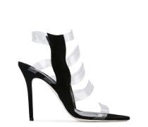 Sandalen mit transparentem Einsatz