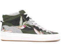 - High-Top-Sneakers mit Kolibri-Print - women