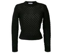holey knit sweater - women - Baumwolle/Nylon