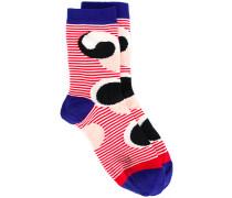 Fish Don't Sleep striped socks