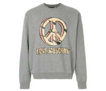 Sweatshirt mit Peace-Print