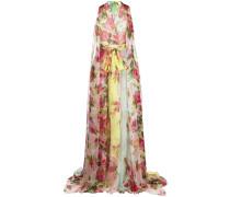 Bodenlange Robe mit Print