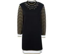 - Pulloverkleid mit verziertem Ausschnitt - women