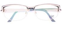 Emaillierte Brille - women - Acetat/Titan/Gold
