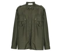 Seidenhemd im Military-Look