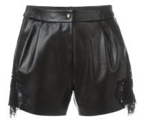 Shorts mit Spitzeneinsätzen