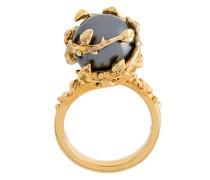 Vergoldeter 'Fairytale' Ring mit Perle
