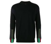 Sweatshirt mit Kontrasteinsätzen