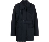 belted fitted coat