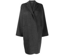 Einreihiger Mantel in Wickeloptik