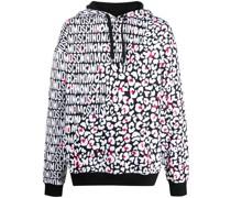 leopard-print logo hoodie