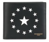 circle star print wallet