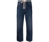 'Barrel-fit' Cropped-Jeans
