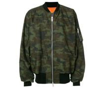 camouflage print bomber jacket