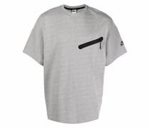 T-Shirt mit Reißverschlussdetail