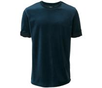 T-Shirt im Samt-Look