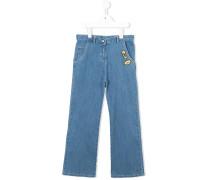 Weite Jeans mit Patches - kids