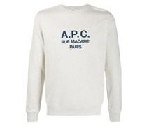 A.P.C. Sweatshirt mit Logo-Stickerei