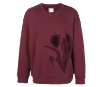 Sweatshirt mit Tulpenstickerei