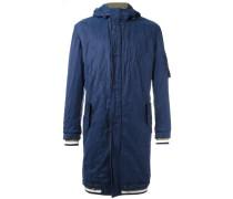 Mittellanger Mantel mit Streifen