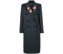 Doppelreihiger Mantel mit floralem Detail