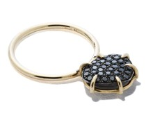 18kt yellow  black diamond ring
