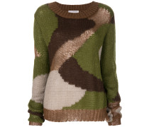 camouflage print jumper