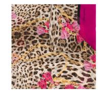 Seidenschal mit Leopardenmuster