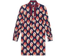 Kleid mit GG Wallpaper-Print