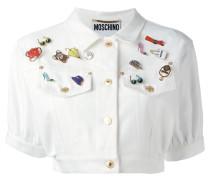 CroppedJeansjacke mit Pins