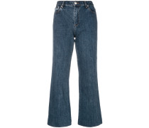 A.P.C. Weite Cropped-Jeans