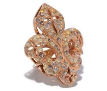 'Fleur-de-Lis' Ring mit Diamanten