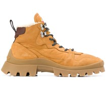 Hiking-Boots mit Faux Shearling