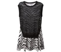 Ausgestelltes Kleid mit Zebra-Print