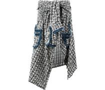 Asymmetrischer Tweed-Rock